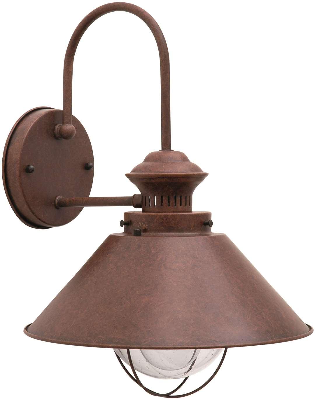 Vägglampa Stora Bält, Rost, Kupa klar, E27, IP23 - 7565070 ... : stallampa : Inredning